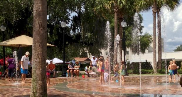 Winter Garden Interactive Fountain & Splash Pad